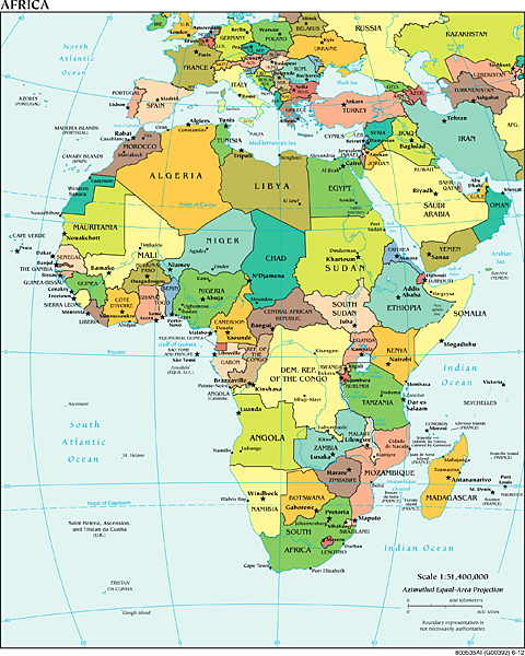 'Political_Africa'_CIA_World_Factbook